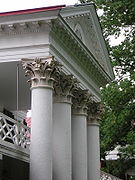 University of Virginia Lawn - Pavilion III capitals and upper level.jpg