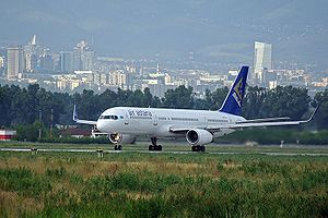 Air Astana Boeing 757 in Almaty