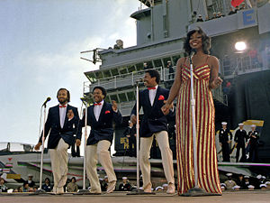 Gladys Knight & the Pips 1981 an Bord der USS Ranger